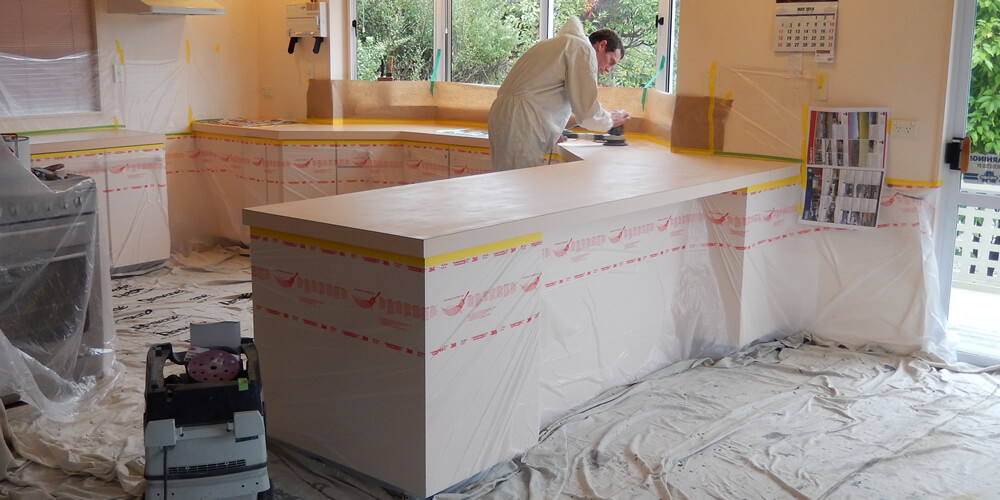On Site Kitchen Makeover By James Spence Of Surface Painters